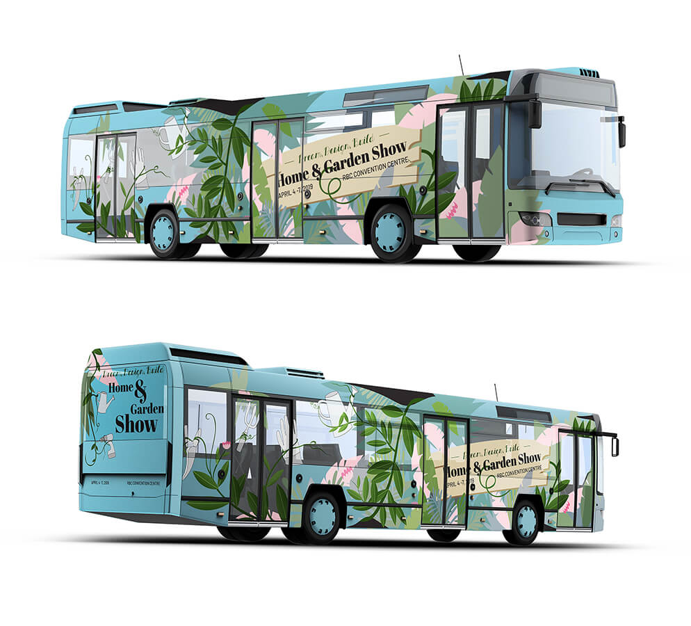Home and Garden Show | Bus Ad
