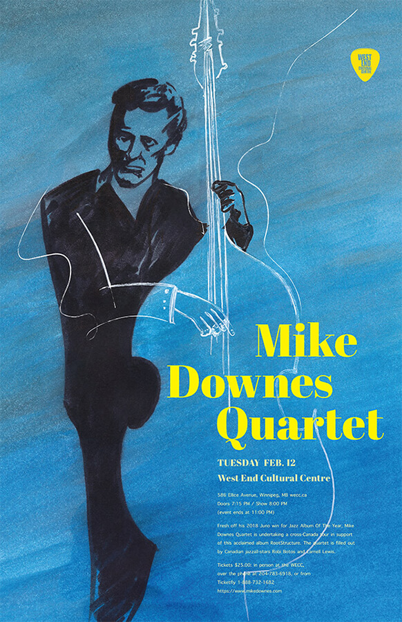 Poster for Mike Downes Quartet